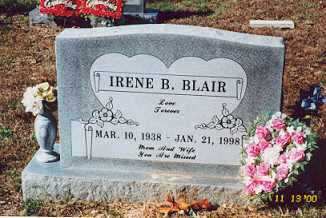 BLAIR, TENNIE IRENE - Newton County, Arkansas | TENNIE IRENE BLAIR - Arkansas Gravestone Photos