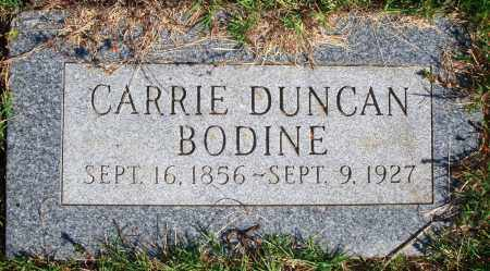 DUNCAN BODINE, CARRIE - Newton County, Arkansas | CARRIE DUNCAN BODINE - Arkansas Gravestone Photos