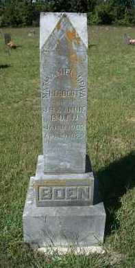 "BOEN, NATHANIEL SPIVA HERBERT ""JOE"" - Newton County, Arkansas | NATHANIEL SPIVA HERBERT ""JOE"" BOEN - Arkansas Gravestone Photos"
