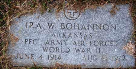 BOHANNON  (VETERAN WWII), IRA W. - Newton County, Arkansas   IRA W. BOHANNON  (VETERAN WWII) - Arkansas Gravestone Photos