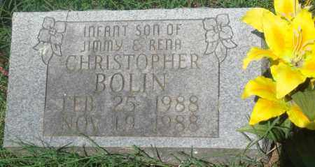 BOLIN, CHRISTOPHER - Newton County, Arkansas | CHRISTOPHER BOLIN - Arkansas Gravestone Photos