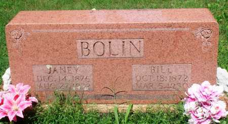 "EDDINGS BOLIN, MARY JANE ""JANEY"" - Newton County, Arkansas 
