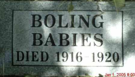BOLING, INFANTS - Newton County, Arkansas | INFANTS BOLING - Arkansas Gravestone Photos
