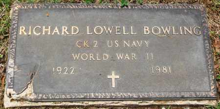 BOWLING (VETERAN WWII), RICHARD LOWELL - Newton County, Arkansas | RICHARD LOWELL BOWLING (VETERAN WWII) - Arkansas Gravestone Photos
