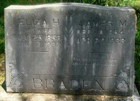 BRADEN, JAMES M - Newton County, Arkansas | JAMES M BRADEN - Arkansas Gravestone Photos