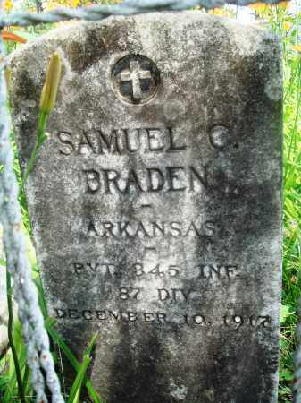 BRADEN (VETERAN), SAMUEL C - Newton County, Arkansas | SAMUEL C BRADEN (VETERAN) - Arkansas Gravestone Photos