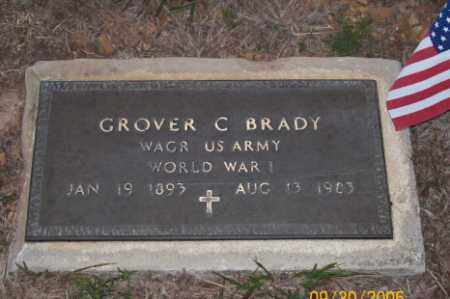 BRADY  (VETERAN WWI), GROVER C - Newton County, Arkansas | GROVER C BRADY  (VETERAN WWI) - Arkansas Gravestone Photos