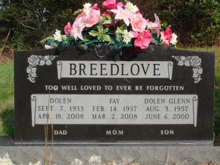 BREEDLOVE, DOLEN GLENN - Newton County, Arkansas | DOLEN GLENN BREEDLOVE - Arkansas Gravestone Photos