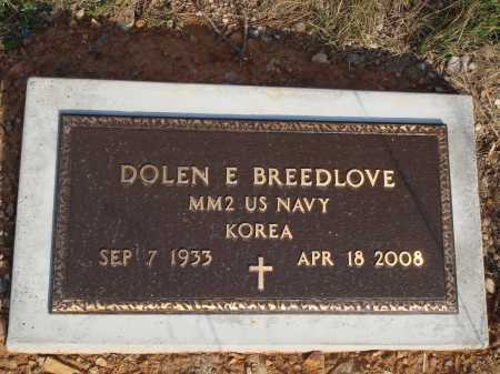 BREEDLOVE  (VETERAN KOR), DOLEN E - Newton County, Arkansas | DOLEN E BREEDLOVE  (VETERAN KOR) - Arkansas Gravestone Photos