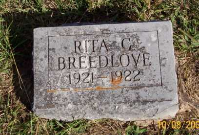 BREEDLOVE, RITA C. - Newton County, Arkansas | RITA C. BREEDLOVE - Arkansas Gravestone Photos