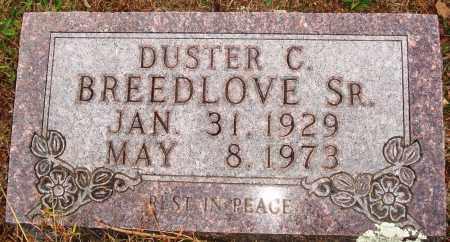 BREEDLOVE, SR., DUSTER C. - Newton County, Arkansas | DUSTER C. BREEDLOVE, SR. - Arkansas Gravestone Photos