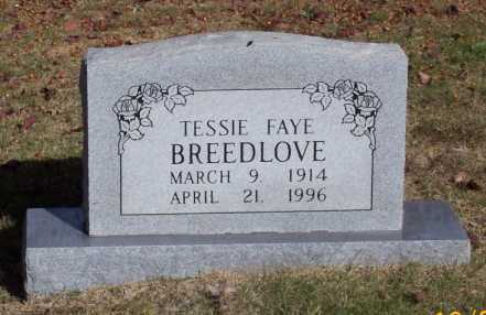 BREEDLOVE, TESSIE FAYE - Newton County, Arkansas | TESSIE FAYE BREEDLOVE - Arkansas Gravestone Photos