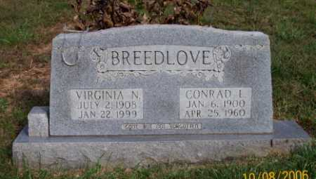 BREEDLOVE, CONRAD L. - Newton County, Arkansas | CONRAD L. BREEDLOVE - Arkansas Gravestone Photos