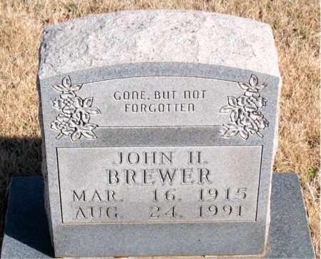 BREWER, JOHN H. - Newton County, Arkansas   JOHN H. BREWER - Arkansas Gravestone Photos