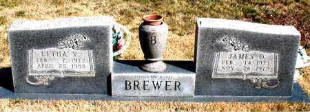BREWER, JAMES D. - Newton County, Arkansas | JAMES D. BREWER - Arkansas Gravestone Photos