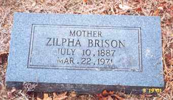 BRISON, ZILPHA - Newton County, Arkansas | ZILPHA BRISON - Arkansas Gravestone Photos