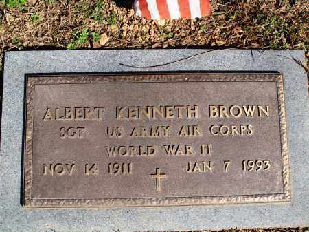 BROWN  (VETERAN WWII), ALBERT KENNETH - Newton County, Arkansas | ALBERT KENNETH BROWN  (VETERAN WWII) - Arkansas Gravestone Photos
