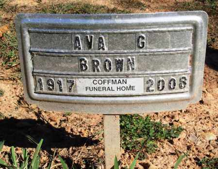 BROWN, AVA G. - Newton County, Arkansas | AVA G. BROWN - Arkansas Gravestone Photos