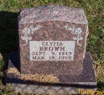 BROWN, CLYITA - Newton County, Arkansas   CLYITA BROWN - Arkansas Gravestone Photos