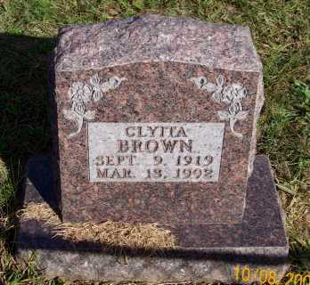 BROWN, CLYITA - Newton County, Arkansas | CLYITA BROWN - Arkansas Gravestone Photos