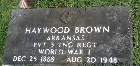 BROWN (VETERAN WWI), HAYWOOD - Newton County, Arkansas | HAYWOOD BROWN (VETERAN WWI) - Arkansas Gravestone Photos