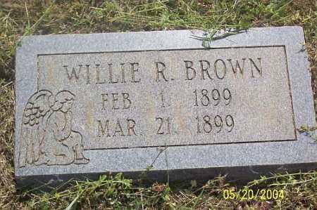 BROWN, WILLIE R. - Newton County, Arkansas | WILLIE R. BROWN - Arkansas Gravestone Photos