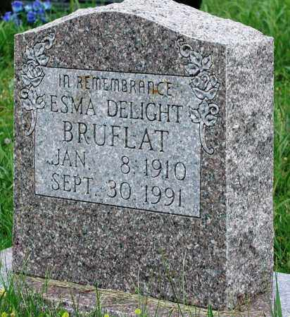 BRUFLAT, ESMA DELIGHT - Newton County, Arkansas | ESMA DELIGHT BRUFLAT - Arkansas Gravestone Photos