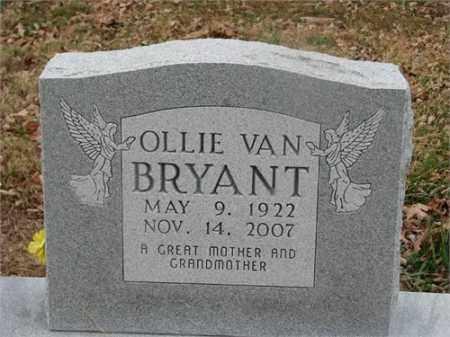 BRYANT, OLLIE VAN - Newton County, Arkansas | OLLIE VAN BRYANT - Arkansas Gravestone Photos
