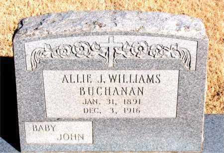 WILLIAMS BUCHANAN, ALLIE J. - Newton County, Arkansas | ALLIE J. WILLIAMS BUCHANAN - Arkansas Gravestone Photos