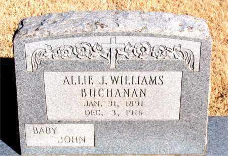 BUCHANAN, ALLIE J. - Newton County, Arkansas | ALLIE J. BUCHANAN - Arkansas Gravestone Photos