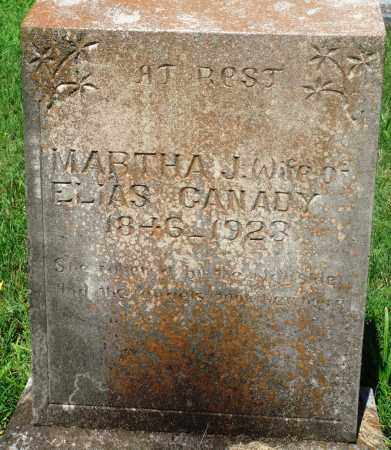 CANADY, MARTHA J - Newton County, Arkansas | MARTHA J CANADY - Arkansas Gravestone Photos