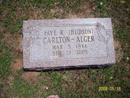 HUDSON ALGER, FAYE R - Newton County, Arkansas | FAYE R HUDSON ALGER - Arkansas Gravestone Photos