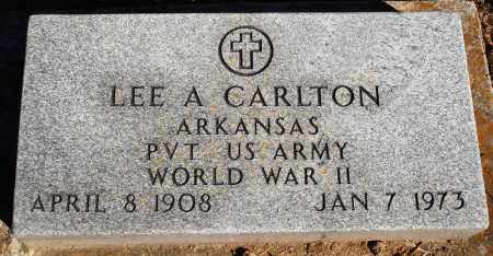 CARLTON  (VETERAN WWII), LEE A - Newton County, Arkansas | LEE A CARLTON  (VETERAN WWII) - Arkansas Gravestone Photos