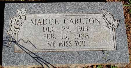 CARLTON, MADGE - Newton County, Arkansas | MADGE CARLTON - Arkansas Gravestone Photos
