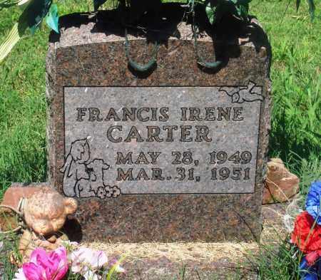 CARTER, FRANCIS IRENE - Newton County, Arkansas   FRANCIS IRENE CARTER - Arkansas Gravestone Photos