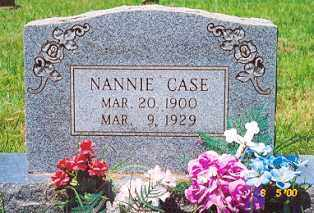 CASE, NANNIE - Newton County, Arkansas | NANNIE CASE - Arkansas Gravestone Photos