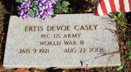 CASEY  (VETERAN WWII), ERTIS DEVOE - Newton County, Arkansas   ERTIS DEVOE CASEY  (VETERAN WWII) - Arkansas Gravestone Photos
