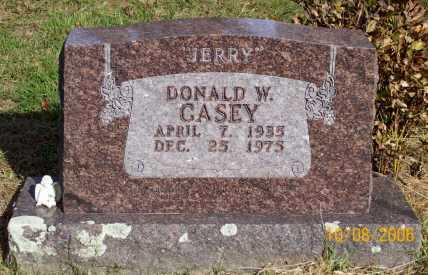 "CASEY, DONALD W. ""JERRY"" - Newton County, Arkansas 