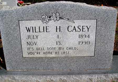 CASEY, WILLIE H. - Newton County, Arkansas | WILLIE H. CASEY - Arkansas Gravestone Photos
