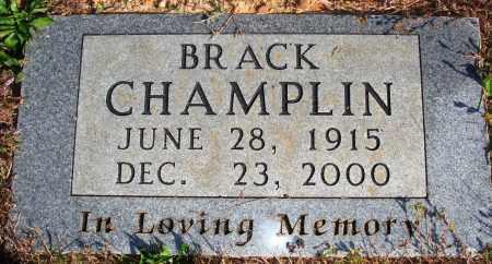 CHAMPLIN, BRACK - Newton County, Arkansas   BRACK CHAMPLIN - Arkansas Gravestone Photos