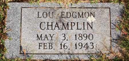 CHAMPLIN, LOU - Newton County, Arkansas | LOU CHAMPLIN - Arkansas Gravestone Photos