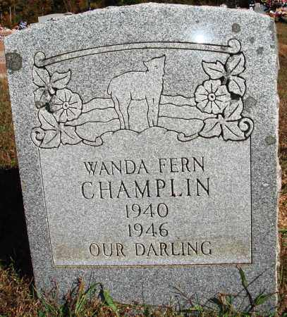 CHAMPLIN, WANDA FERN - Newton County, Arkansas | WANDA FERN CHAMPLIN - Arkansas Gravestone Photos
