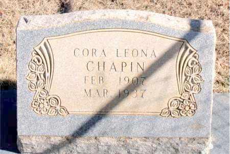 CHAPIN, CORA LEONA - Newton County, Arkansas | CORA LEONA CHAPIN - Arkansas Gravestone Photos