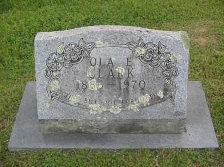 CLARK, OLA E. - Newton County, Arkansas   OLA E. CLARK - Arkansas Gravestone Photos