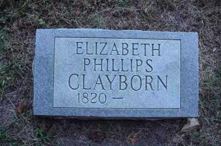 PHILLIPS CLAYBORN, ELIZABETH - Newton County, Arkansas | ELIZABETH PHILLIPS CLAYBORN - Arkansas Gravestone Photos