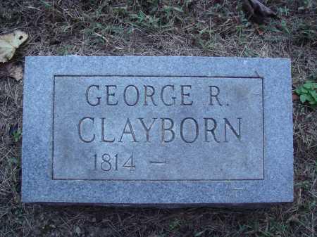 CLAYBORN, GEORGE R. - Newton County, Arkansas | GEORGE R. CLAYBORN - Arkansas Gravestone Photos