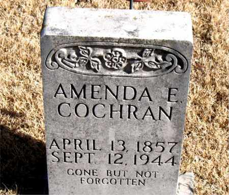 COCHRAN, AMENDA E. - Newton County, Arkansas | AMENDA E. COCHRAN - Arkansas Gravestone Photos