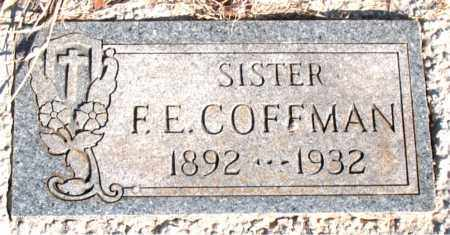 COFFMAN, F. E. - Newton County, Arkansas | F. E. COFFMAN - Arkansas Gravestone Photos