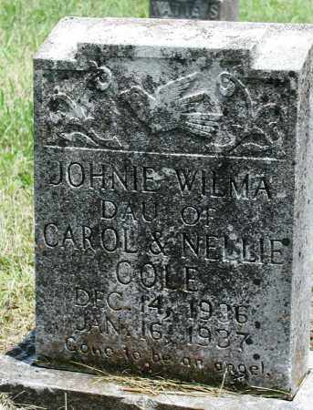 COLE, JOHNIE WILMA - Newton County, Arkansas | JOHNIE WILMA COLE - Arkansas Gravestone Photos