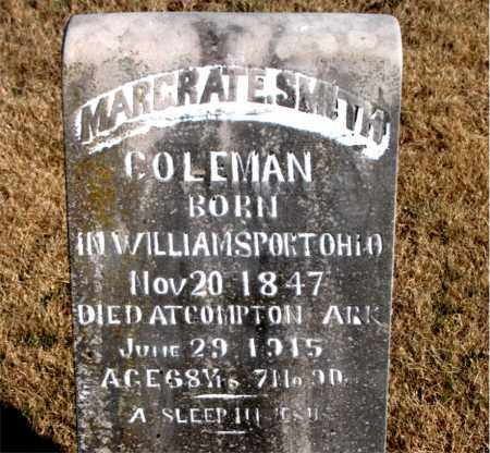 COLEMAN, MARGRAT E. - Newton County, Arkansas | MARGRAT E. COLEMAN - Arkansas Gravestone Photos